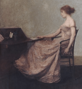The Letter, Thomas Wilmer Dewing 1851–1938