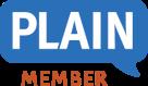 PLAIN logo - member